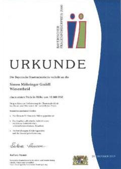 Bayerischer Frauenförderpreis 2000