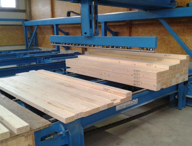 Flexistack für Bauholz und Abbund