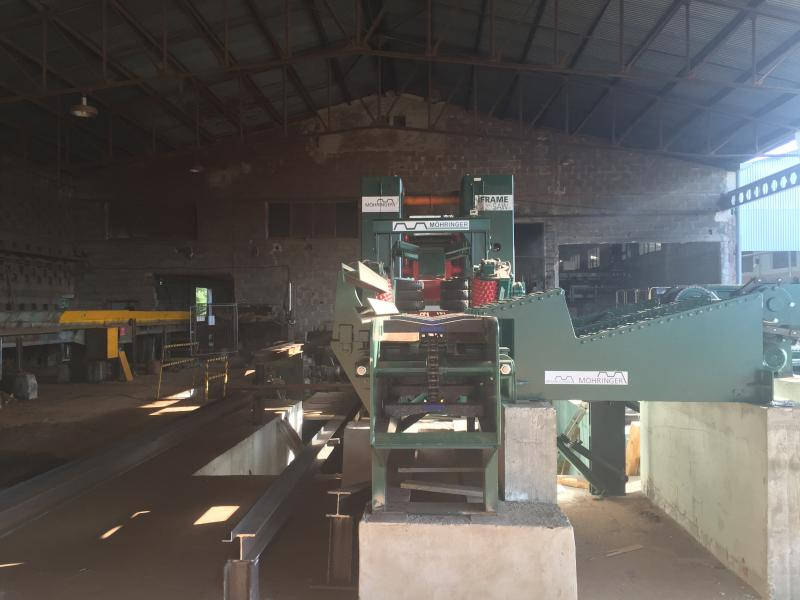 Start-up of frame sawmill for resinous pine